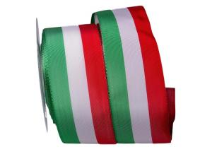 Uni Nationalband Italien Grün Weiß Rot ohne Draht 60mm