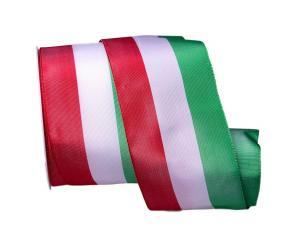 Uni Nationalband Italien Grün Weiß Rot ohne Draht 80mm