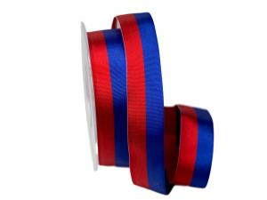 Uni Nationalband Lichtenstein rot / blau 25mm ohne Draht