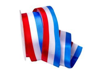 Uni Nationalband Luxenburg rot /weiß / blau 40mm ohne Draht