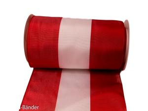 Uni Nationalband Österreich 180mm rot / weiß / rot ohne Drah