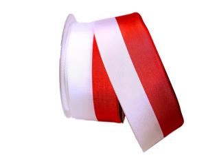 Uni Nationalband Polen 55mm rot / weiß ohne Draht