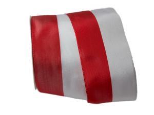 Uni Nationalband Polen 80mm rot / weiß ohne Draht