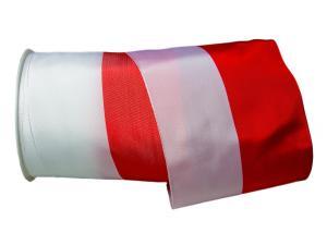 Uni Nationalband Polen rot / weiß 125mm ohne Draht