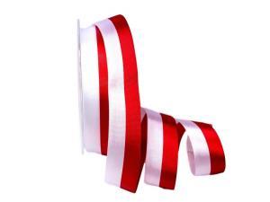 Uni Nationalband Polen rot / weiß 25mm ohne Draht