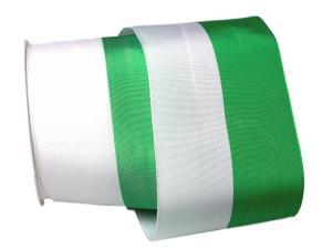 Uni Nationalband Sachsen 100mm weiß / grün ohne Draht