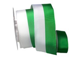 Uni Nationalband Sachsen 60mm weiß / grün ohne Draht