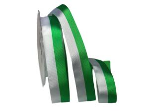 Uni Nationalband Sachsen grün /weiß 25mm ohne Draht