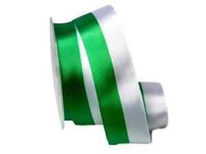 Uni Nationalband Sachsen grün /weiß 40mm ohne Draht
