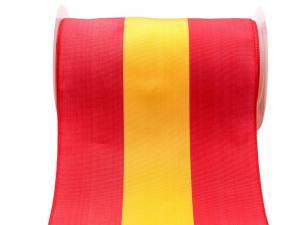 Uni Nationalband Spanien 180mm rot / gelb ohne Draht