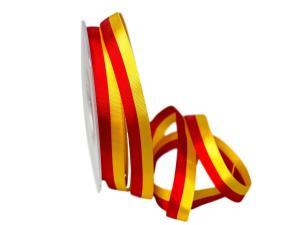 Uni Nationalband Spanien rot / gelb 15mm ohne Draht