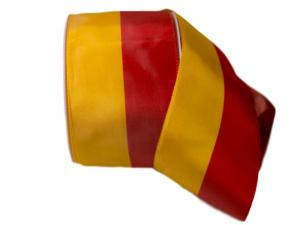 Uni Nationalband Spanien rot / gelb 80mm ohne Draht