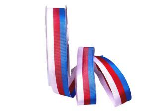 Uni Nationalband Tschechien weiß /rot / blau 25mm ohne Draht