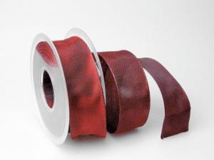Uniband Bordeaux mit Draht 40mm
