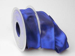 Uniband Dunkelblau mit Draht 40mm