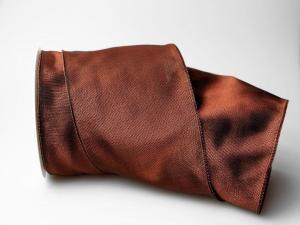 Uniband Dunkelbraun mit Draht 100 mm