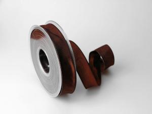Uniband Dunkelbraun mit Draht 25mm