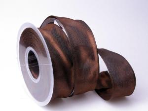Uniband Dunkelbraun mit Draht 40mm
