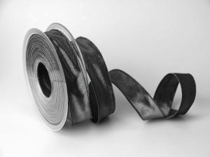 Uniband Dunkelgrau mit Draht 25mm