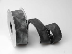 Uniband Dunkelgrau mit Draht 40mm