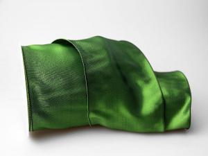Uniband Dunkelgrün mit Draht 100mm