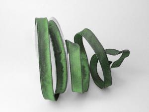 Uniband Dunkelgrün mit Draht 15mm