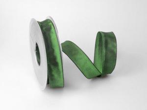 Uniband Dunkelgrün mit Draht 25mm