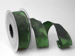 Uniband Dunkelgrün mit Draht 40mm
