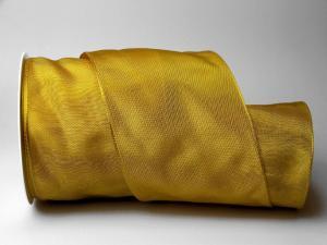 Uniband Gelb mit Draht 100mm