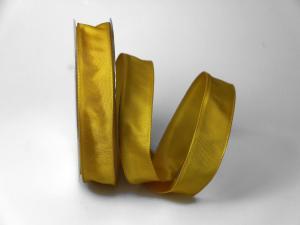Uniband Gelb mit Draht 25mm