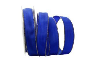 Uniband Goldkante Amerika Marineblau mit Draht 25mm
