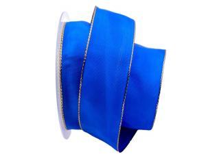 Uniband Goldkante blau 40mm mit Draht