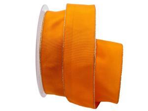 Uniband Goldkante orange 40mm mit Draht
