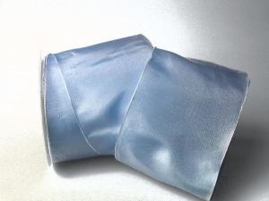 Uniband hellblau mit Draht 100mm