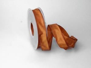 Uniband Hellbraun mit Draht 25mm