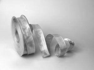 Uniband Hellgrau mit Draht 25mm