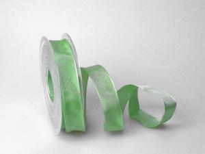 Uniband Lindgrün mit Draht 25mm