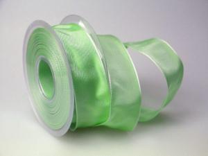 Uniband Lindgrün mit Draht 40mm