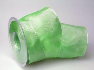 Uniband Lindgrün mit Draht 70mm