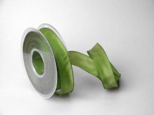 Uniband Moosgrün mit Draht 25mm
