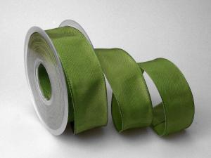 Uniband Moosgrün mit Draht 40mm
