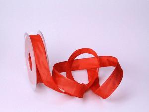Uniband Rot mit Draht 25mm