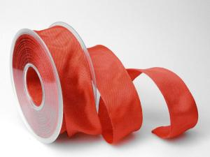 Uniband Rot mit Draht 40mm