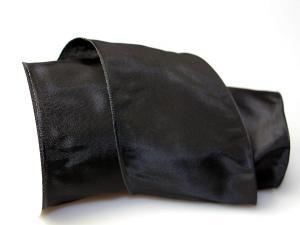 Uniband Schwarz mit Draht 100mm
