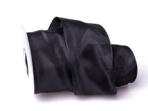 Uniband Schwarz mit Draht 70mm