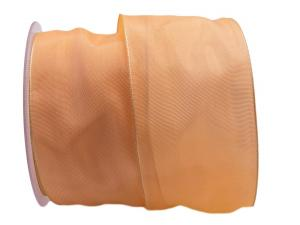 Uniband SONDERFARBE aprikot 75mm mit Draht