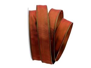 Uniband SONDERFARBE rot / grün 25mm mit Drahtkante