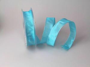Uniband Türkis mit Draht 25mm