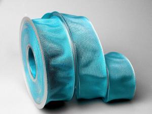 Uniband Türkis mit Draht 40mm