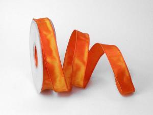 Uniband Weihnachtsorange mit Draht 25mm
